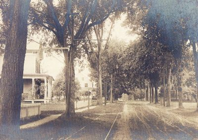 116 and 134 Montague Road with Trolley Tracks c1900