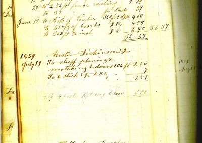 Cowls Account book 1859-Emily Dickinson's brother Austin and father Edward