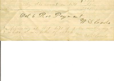 Cowls receipt 1892