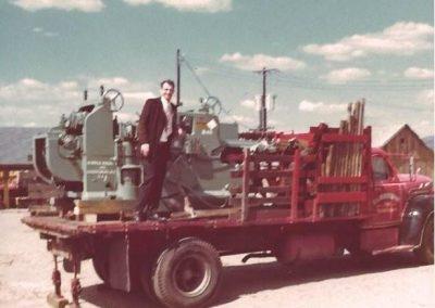 Paul C. Jones and new planer-Apr. 1976 001